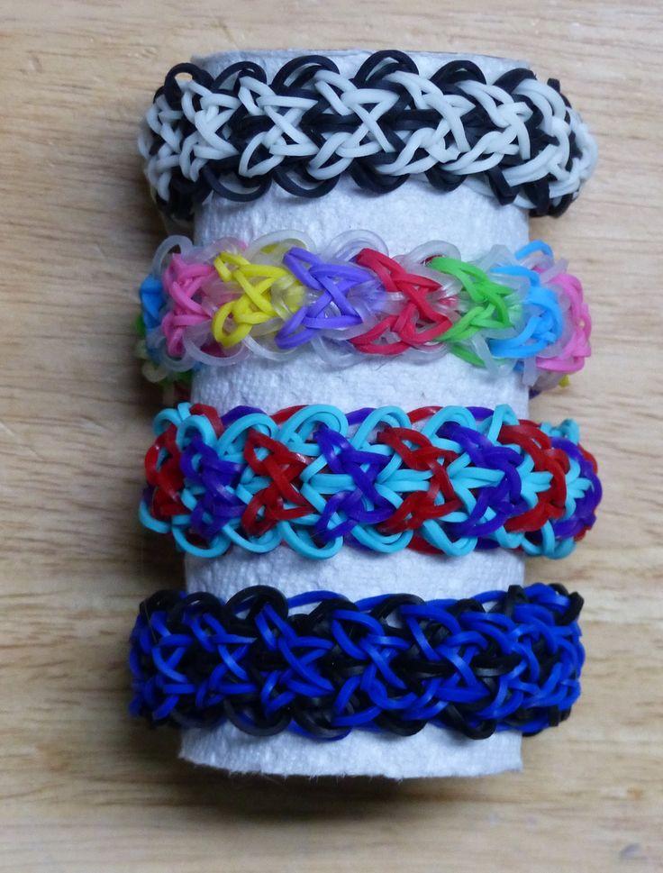 "Rainbow Loom Bracelet - Original Design - ""DREAM WEAVER"" (ref # 5u) by  Deb's Thing"