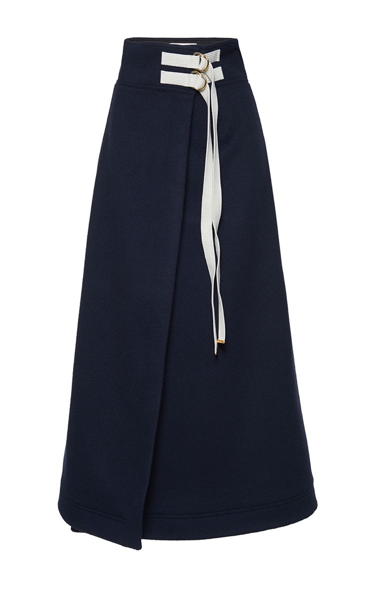Wrap Effect Skirt by MARNI for Preorder on Moda Operandi