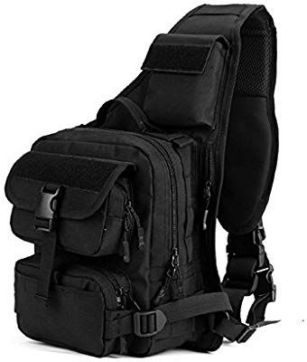 f212281dd9 Amazon.com   X-Freedom Military Sling Chest Backpack Tactical Daypack Chest  Pack Bag Molle Ipad Laptop Bag One Strap Backpa…