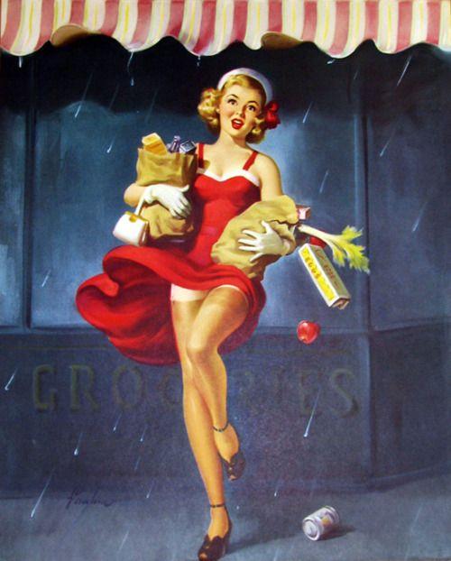 vintagegal: Illustration by Art Frahm 1950's