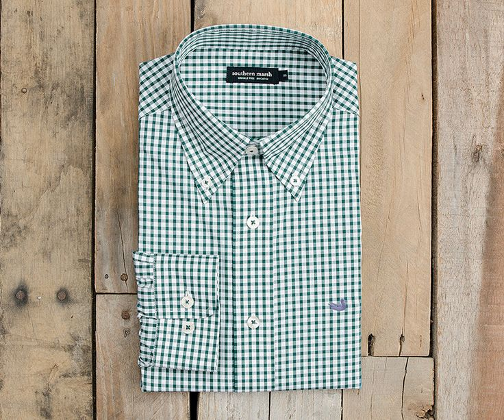 Southern Marsh Collection — The Nashville Gingham - Wrinkle Free