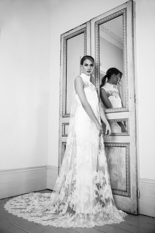 The Ianthe Dress from The Nina Rose Bridal 2016 Campaign. Nina Rose is a London based luxury silk wedding dress designer. Shot by Amelia Allen photography.