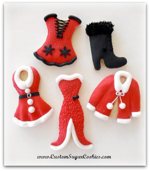 Hot Mama Claus cookies