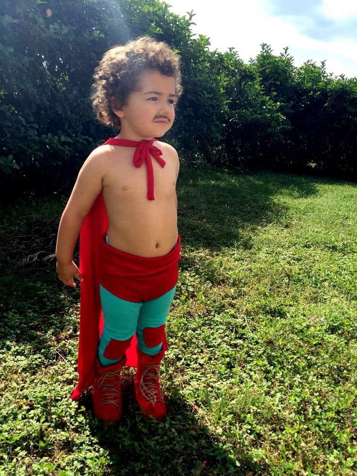 My little boo's halloween costume for 2015. NACHO LIBRE!!!
