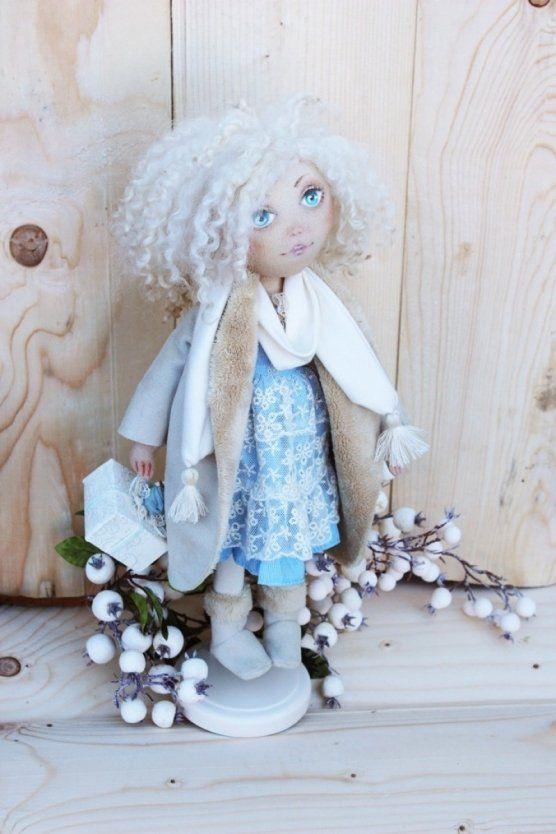 Купити: Текстильна лялька Сніжинка - Каталог рукоділля zolotiruky.in.ua #21247
