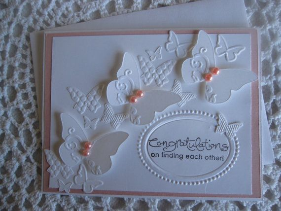 Stampin' Up Handmade Greeting Card: Wedding/Engagement Congratulations on Etsy, $3.75