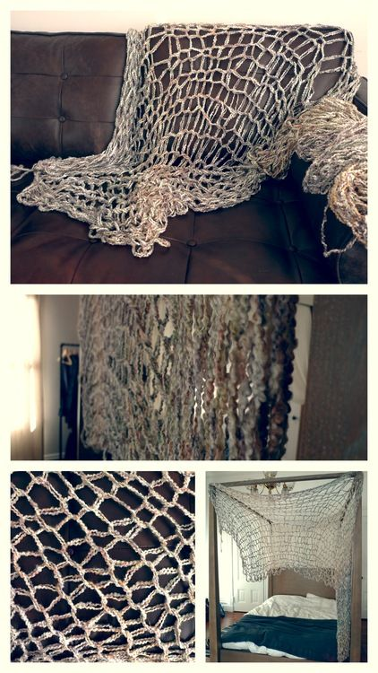 DIY: Arm Knitting, so doing this for my beach themed jaccuzi room!