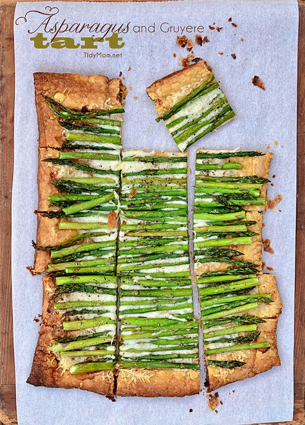 Easy and Delicious Asparagus and Gruyere Tart recipe at TidyMom.net - recipe from @tidymom