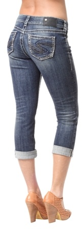 Suki Capri, Mid Rise, Curvy Fit, Relaxed Hip and Thigh  $89.95