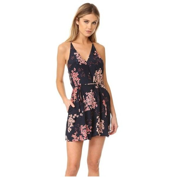 Rebecca Taylor Sleeveless Phlox Romper (1,370 ILS) ❤ liked on Polyvore featuring jumpsuits, rompers, dark navy, floral print romper, floral romper, rebecca taylor romper, floral rompers and sleeveless romper
