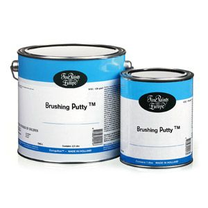 Brushing Putty -- This high-build primer is perfect for covering the heavy grain of oak cabinets, furniture, etc. Manufacturer says that Brushing Putty has five times the filling ability of ordinary primer.