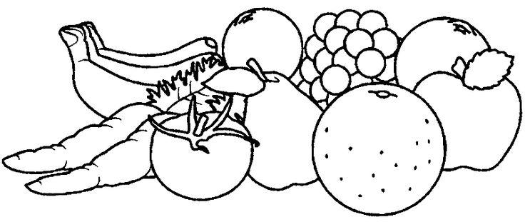 ausmalbilder obst und gemüse | ausmalbilder, ausmalen, clipart