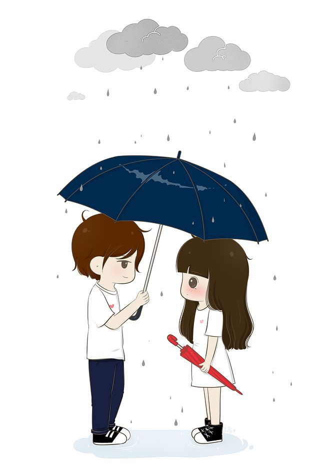 I Will Be Your Umberalla Whenever It Rains And Prevent You From Soaking Cartoons Love Love Cartoon Couple Cute Couple Wallpaper
