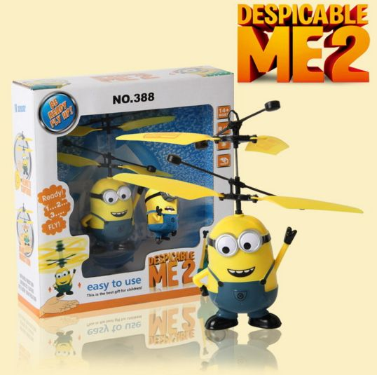 Despicable Me RC Helicopter Induction Flying Minion Fairy Dolls Remote Control Helicoptero Drone Juguetes Toys Minions