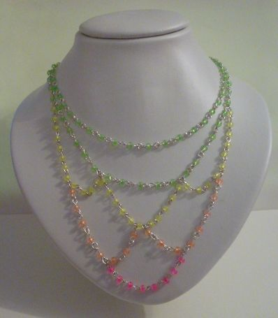 Choker made with neon seed beads by Jewellery by Janine https://www.facebook.com/JewelleryByJanine