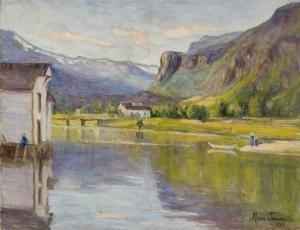 Marie Tannæs (1854-1939): Fra Strandebarm I Hardanger, 1927 