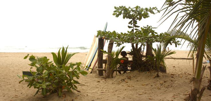 Mittagspause als Surfer. In Costa Rica