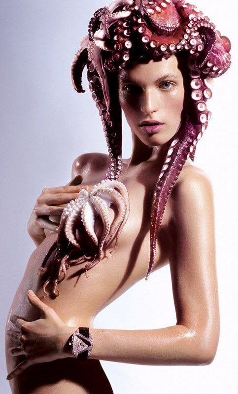 octopus and naked women