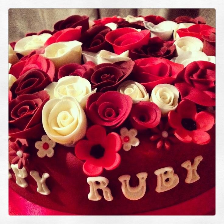 40th anniversary cake   ruby anniversary cake 40th ann
