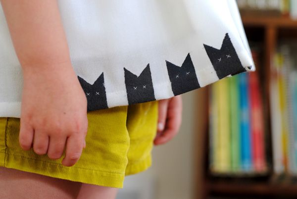 hart + sew | Vintage Baby Clothing: refashion: stenciled cat top