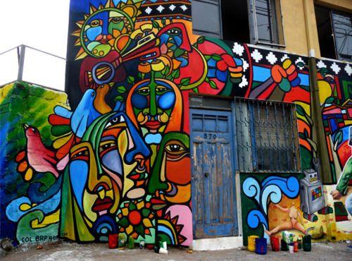 Alas de mariposas, Muralismo en Chile