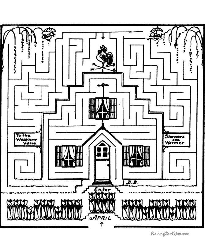 Free printable maze game