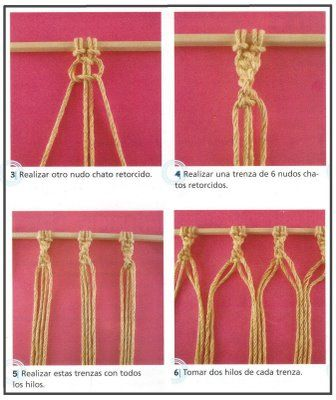 36 best images about rideau en macram on pinterest see - Macrame rideau cuisine ...