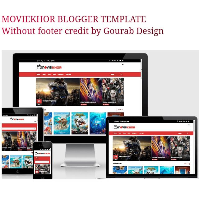 Moviekhor One Of The Best Blogger Template It Is Perfect Suit Film Blogspot Website Now I Am Saring Th Blogger Templates Free Blogger Templates Movie Website