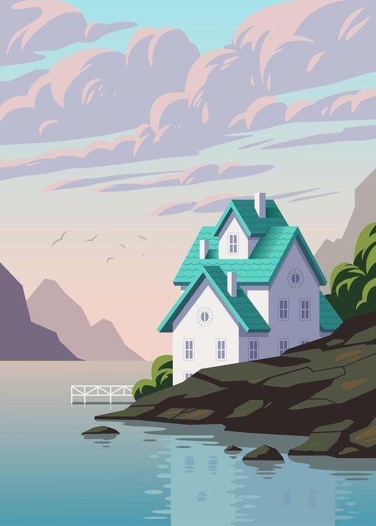 'Lake House' by Andrey Sharonov