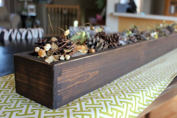 Wood Table Centerpiece or Window Box 48 long by WellSpokenWood, $50.00