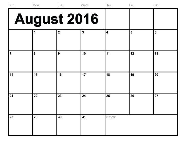 17 best free calendar printable images on pinterest free calendar august 2016 calendar publicscrutiny Image collections