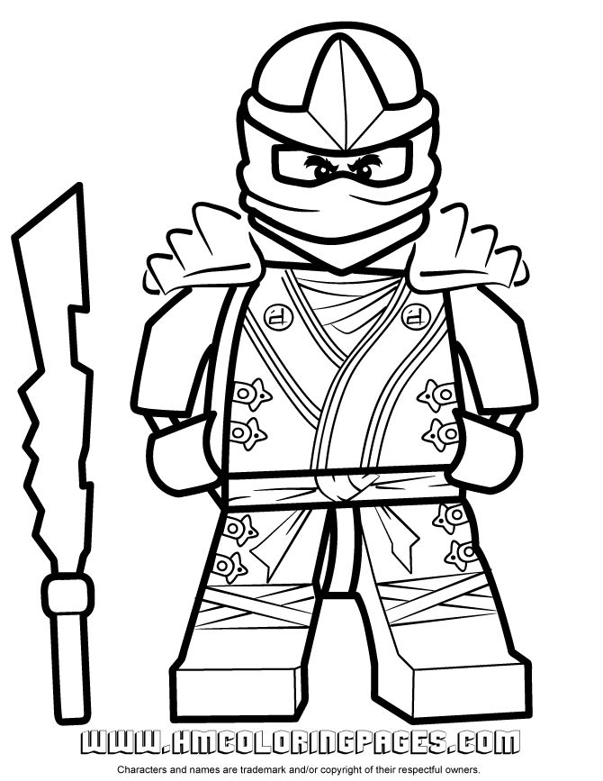 Lego Valentine color sheets | ... Lego Ninjago Cole KX Coloring Page | Free Printable Coloring Pages