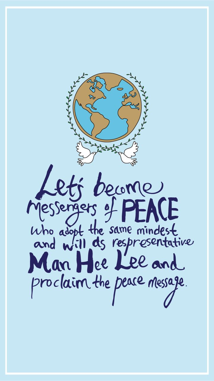 Let's become messenger of peace