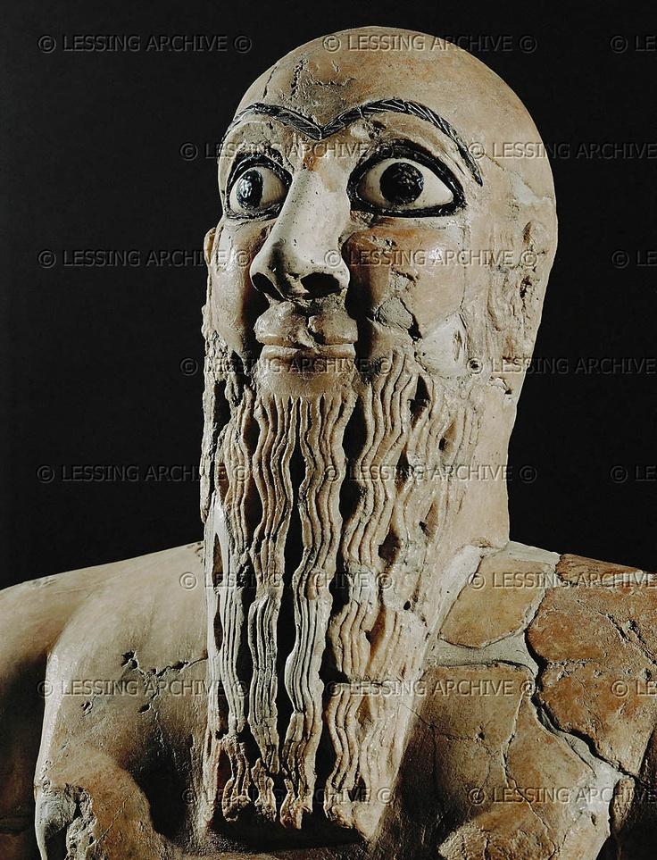 Iku-Shamagan, King Of Mari Detail Of 08-02-088 Steatit -4641