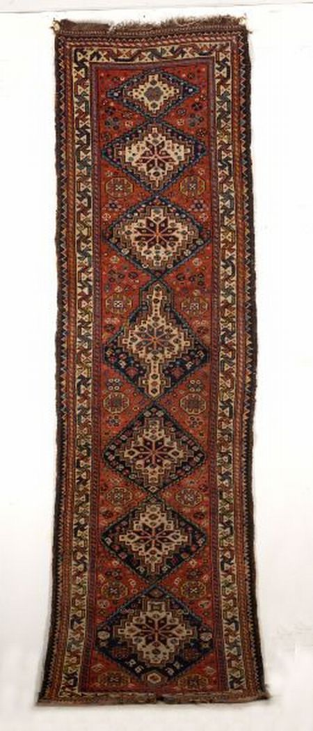 Khamseh Long Rug Southwest Persia Early 20th Century 9 Ft 10 In