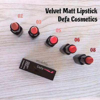 verdebio Defa Cosmetics Velvet Matt Lipstick
