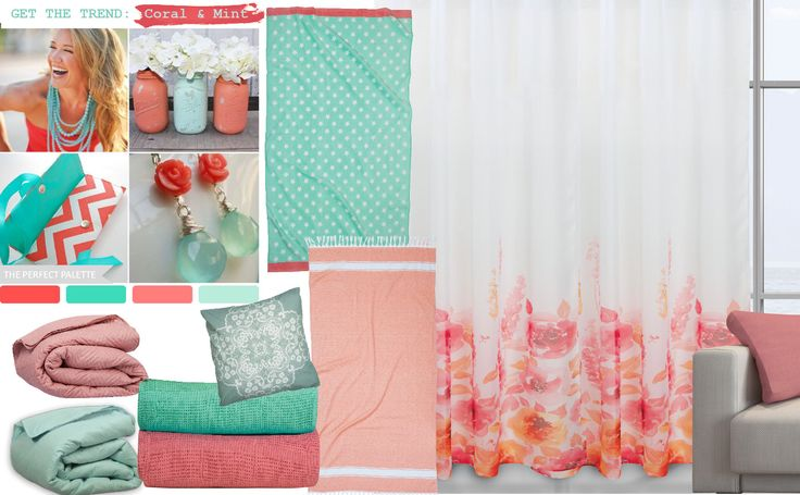 Get the Trend!! coral & mint .. by Das home !!