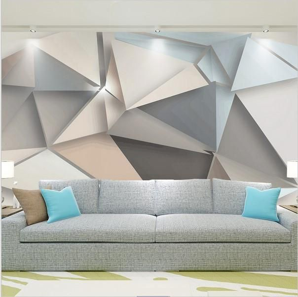 Quality Design Geometric Shapes Wall Mural For Home Or Commerce Modern 3d Abstract Wallpaper Cus Geometric Wallpaper Home Living Decor Custom Photo Wallpaper