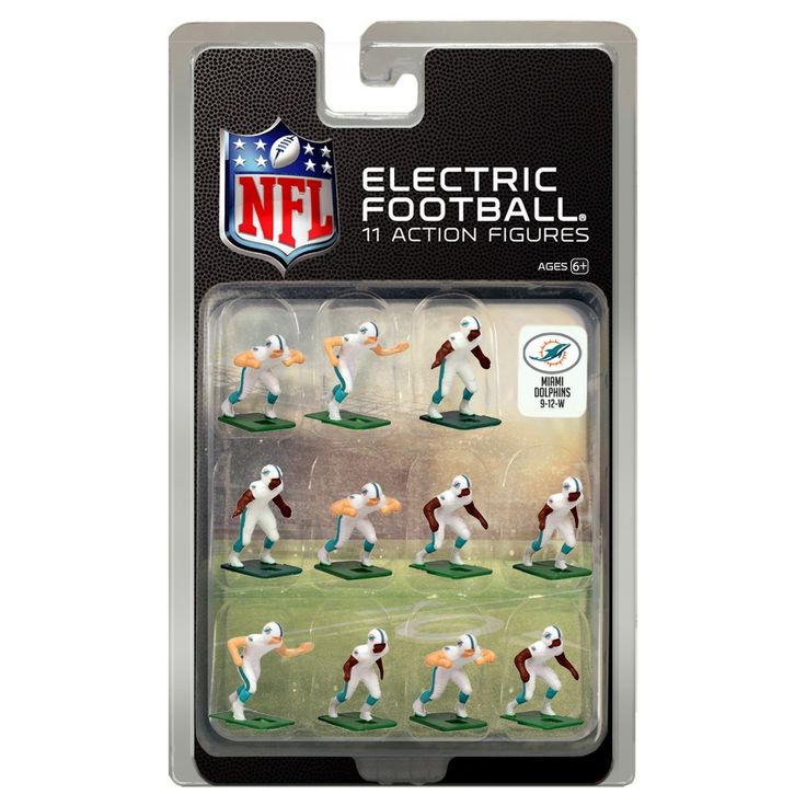 NFL Miami Dolphins Tudor Games Away Uniform Electric Football Action Figure Set
