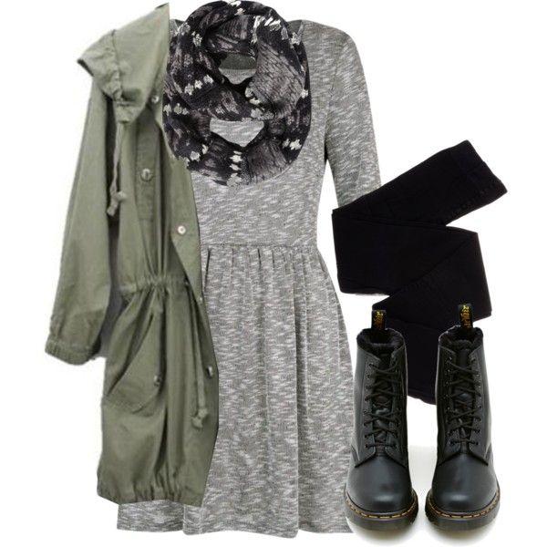 Inspiration: Doc Martens, Dress, Military Jacket