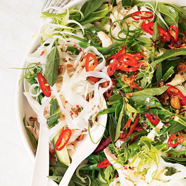 For a yummy salad that packs a punch, try this Rice Noodle Chicken, Chilli & Lime Salad