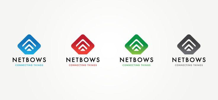 Netbows | Identidad corporativa y plantilla de producto para Netbows, una plataforma de hardware que permite conectar a Internet cualquier tipo de elemento. Imagen creada en cuatro colores para diferenciar la variedad de productos.