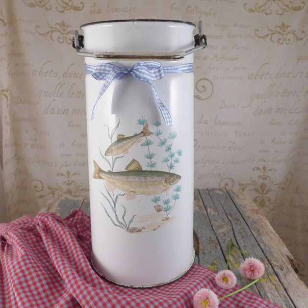 Kanka na mleko ryby - atelier-Brocante - Dzbanki na mleko