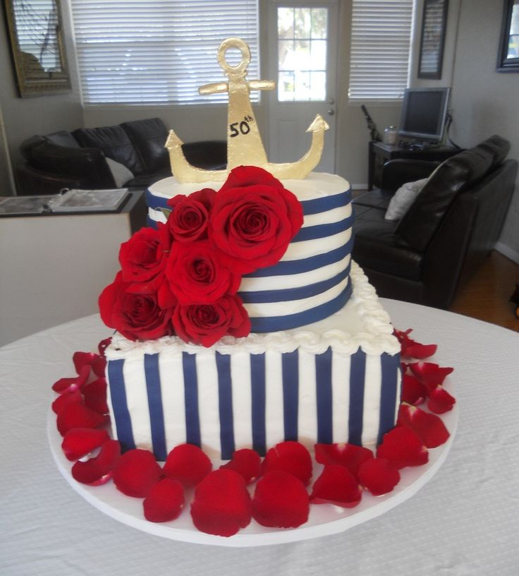 red white and blue birthday cakes