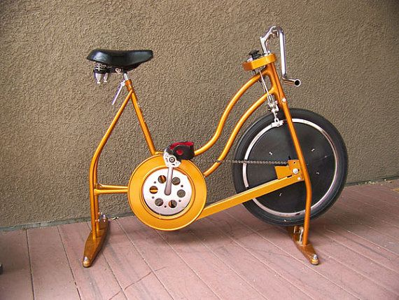 Vintage Schwinn exercise bike bicycle bronze 1960s 1970s ...