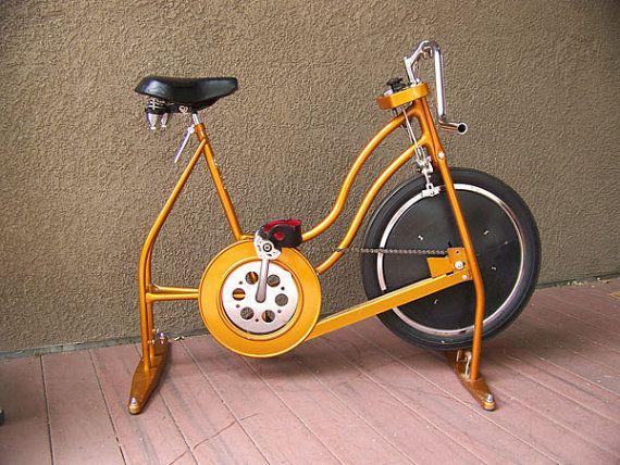 Vintage Schwinn exercise bike bicycle bronze 1960s 1970s