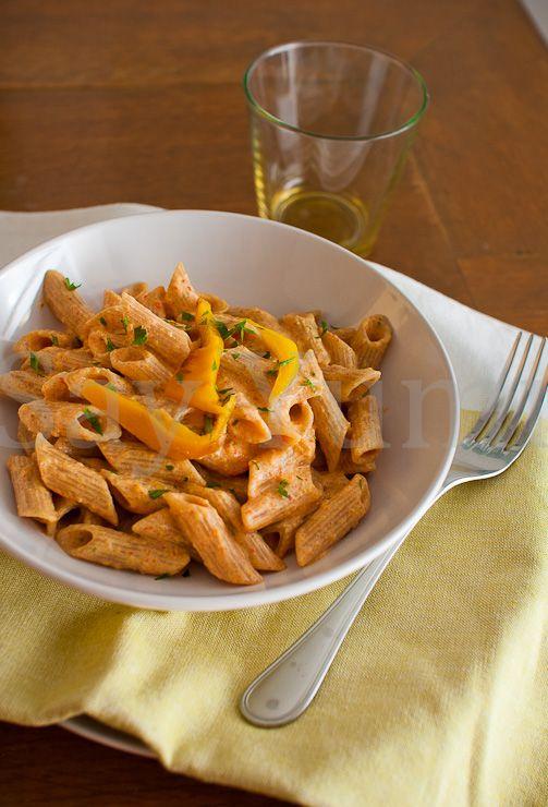 Pennette alla crema di peperoni- Pasta with pepper cream