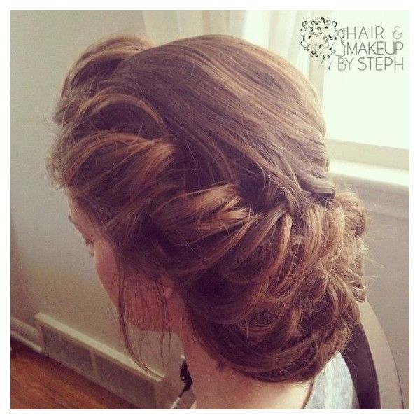 Victorian Updo Liked On Polyvore Featuring Home Decor Hair And