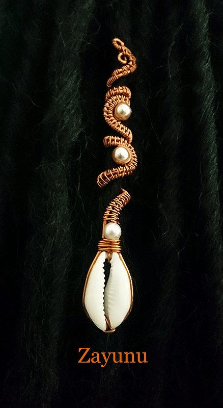 Limited edition  ROYAL  Cowrie and Pearl woven copper by ZAYUNU