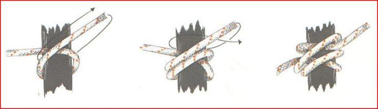 """Éste es un nudo derivado del """"ballestrinque"""", pero que ofrece mucha másseguridad, sin necesidad de dar uno o dos cotes con el chicote, como es habitualhacer en el caso anterior. El """"ballestrinque..."""